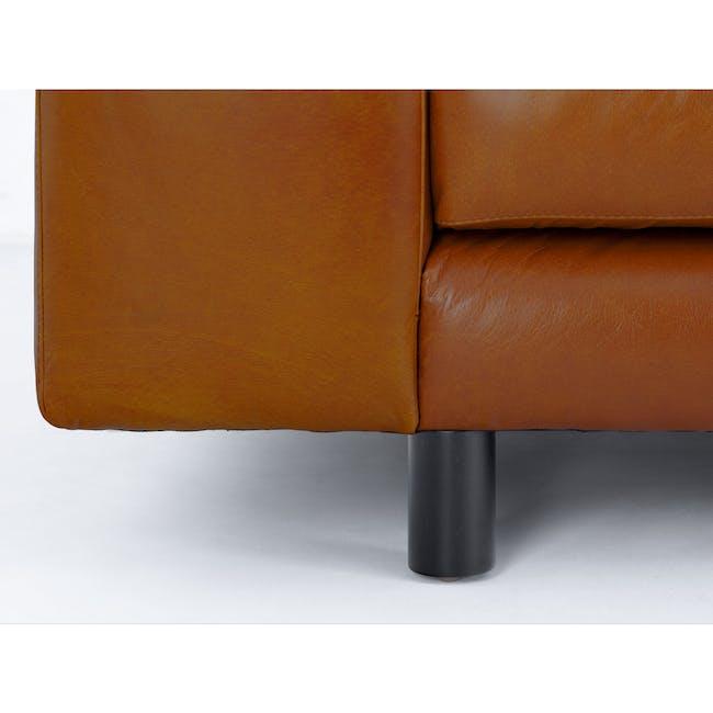 Wyatt L-Shaped Sofa - Cigar (Premium Waxed Leather) - 2