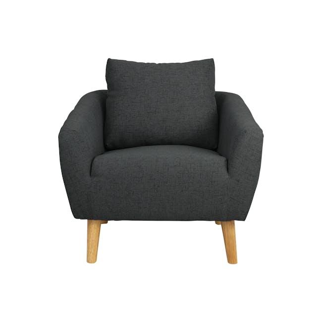 Hana Armchair- Charcoal - 0