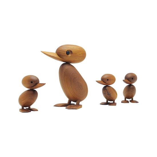 Helga - Clarise the Duckling - Teak Wood Sculpture (Medium)
