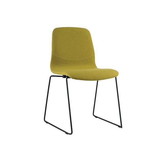 Bianca Dining Chair - Matt Black, Oasis - 0