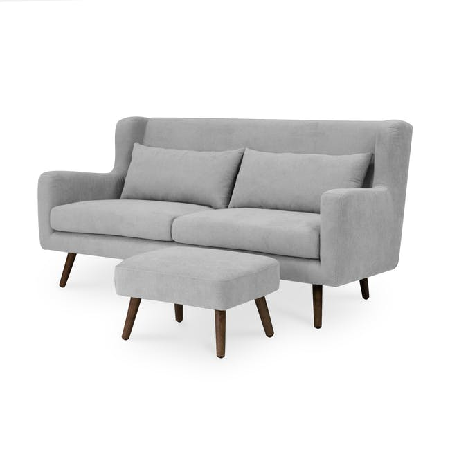 Luke 3 Seater Sofa - Gray Owl - 7