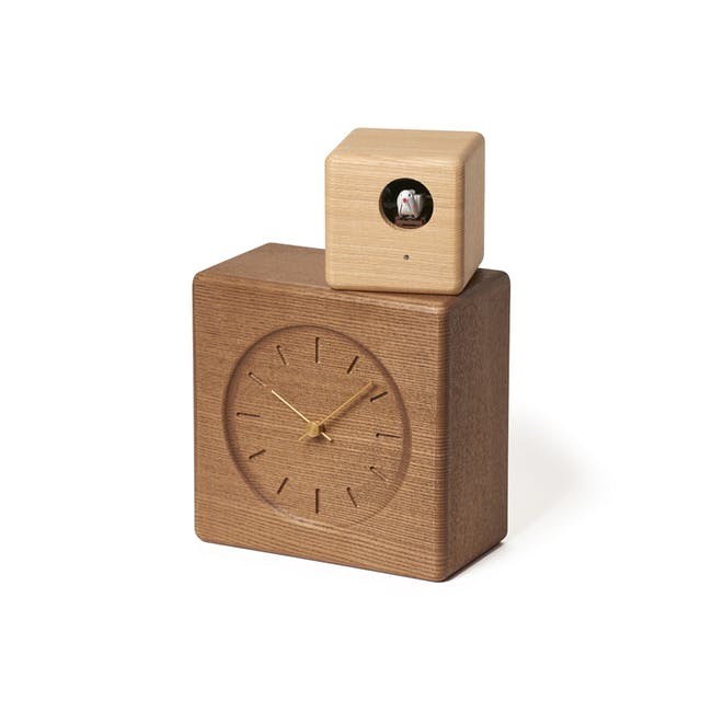 Cubist Cuckoo Clock - Brown, Natural - 0