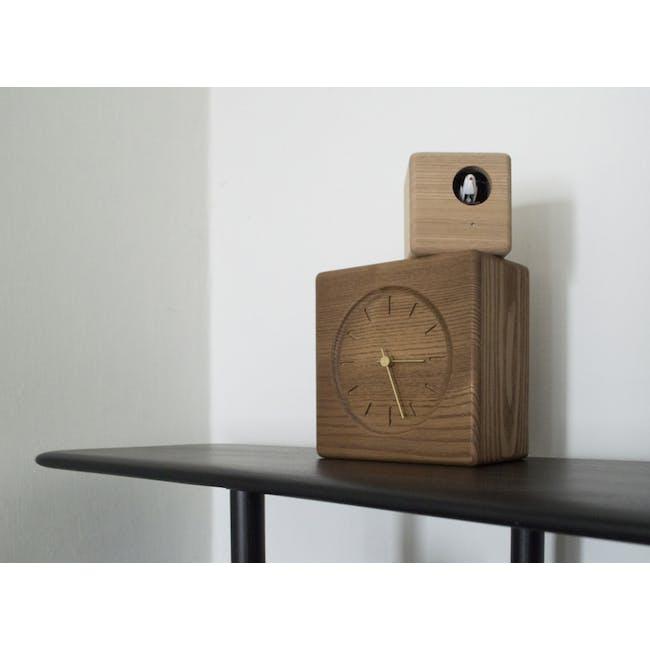 Cubist Cuckoo Clock - Brown, Natural - 2