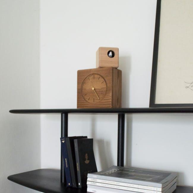 Cubist Cuckoo Clock - Brown, Natural - 1