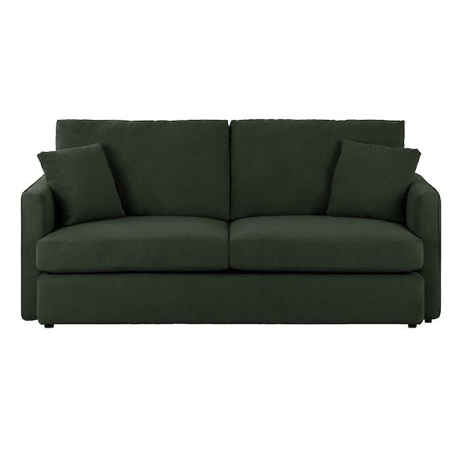 Ashley 3 Seater Lounge Sofa - Olive - 0