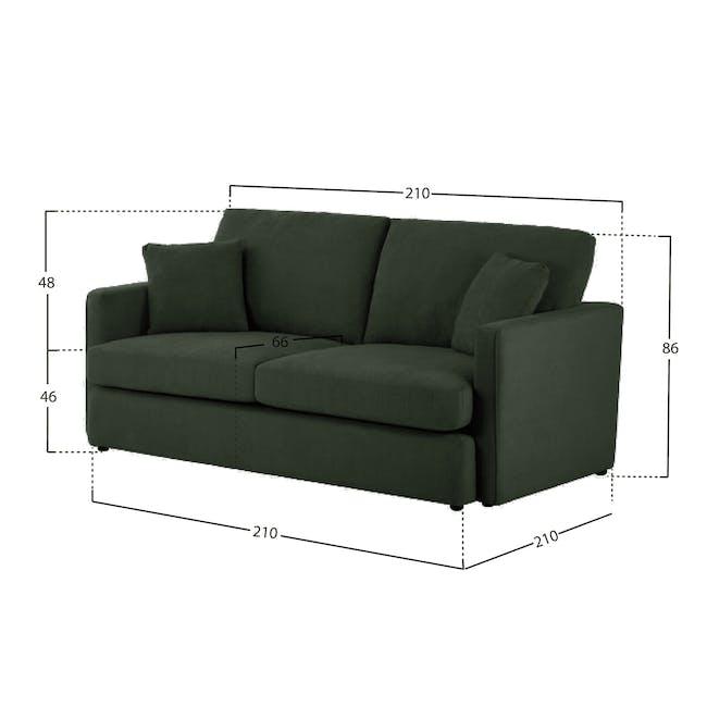 Ashley 3 Seater Lounge Sofa - Olive - 5