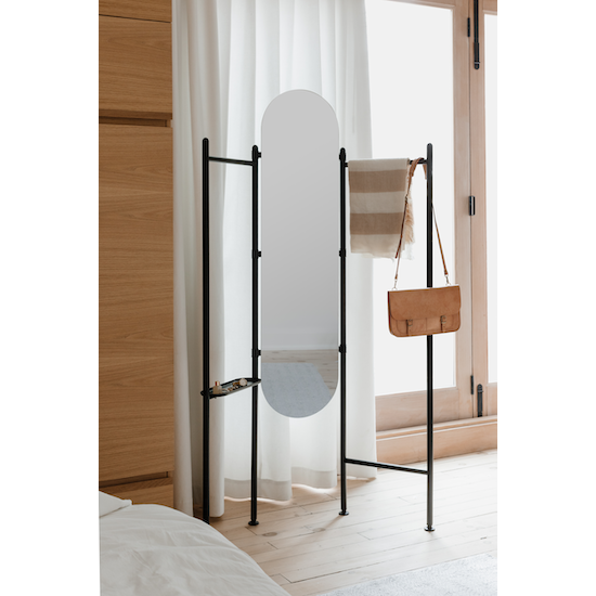 Umbra - Vala Floor Mirror - Black