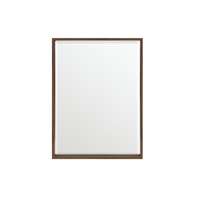 Julia Half-Length Mirror 60 x 80 cm - Walnut - 0
