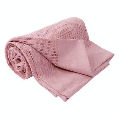 Leno Weave Cotton Throw - Blush - Image 1