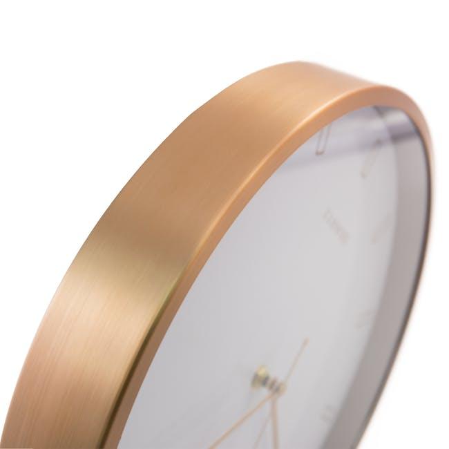 Pellicano Wall Clock - White, Copper - 1