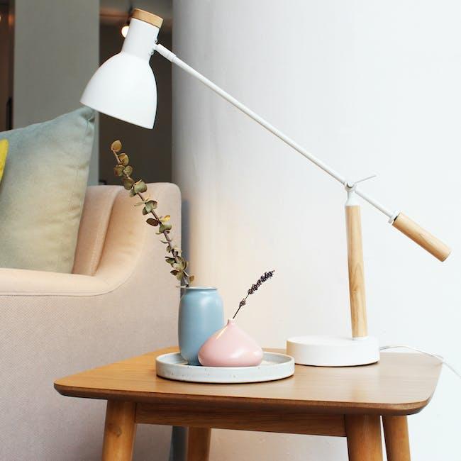 Nordic Matte Vase Short Cylinder - Dusty Pink - 1