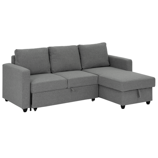 Mia L Shaped Storage Sofa Bed Dove Grey Apartment Sofas By