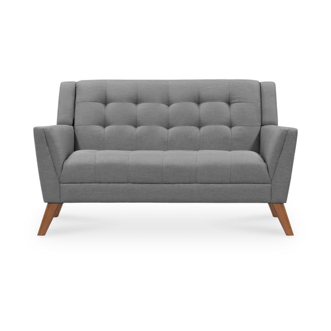 Stanley 2 Seater Sofa with Stanley Armchair - Siberian Grey - 1