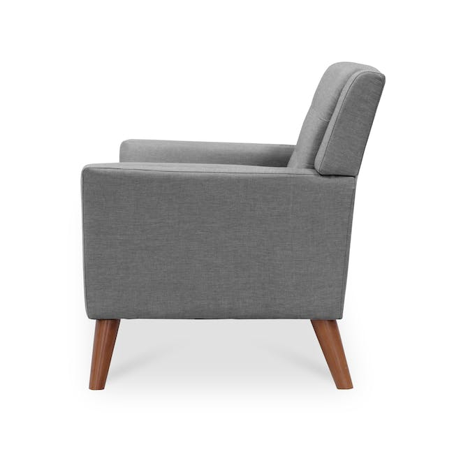 Stanley 2 Seater Sofa with Stanley Armchair - Siberian Grey - 8