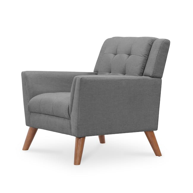 Stanley 2 Seater Sofa with Stanley Armchair - Siberian Grey - 6