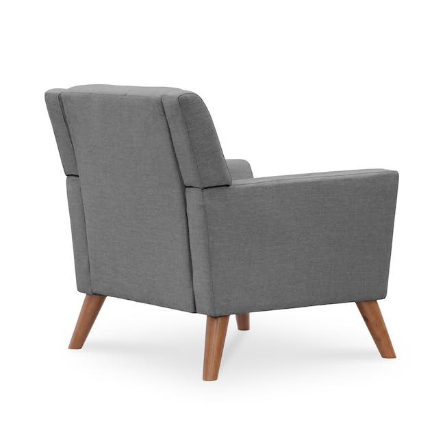 Stanley 2 Seater Sofa with Stanley Armchair - Siberian Grey - 7