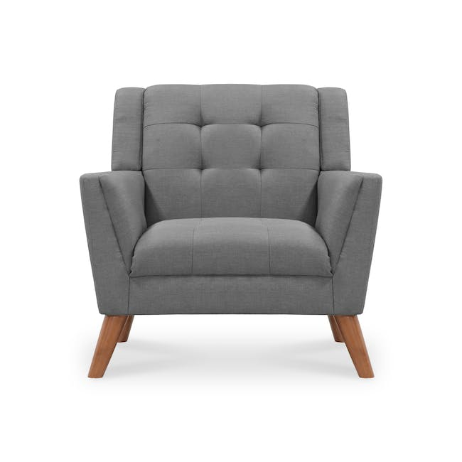 Stanley 2 Seater Sofa with Stanley Armchair - Siberian Grey - 5