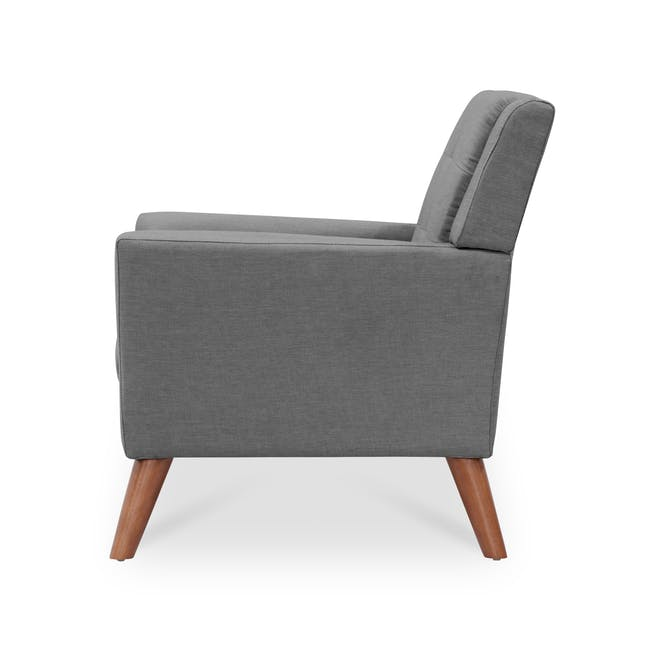 Stanley 2 Seater Sofa with Stanley Armchair - Siberian Grey - 4