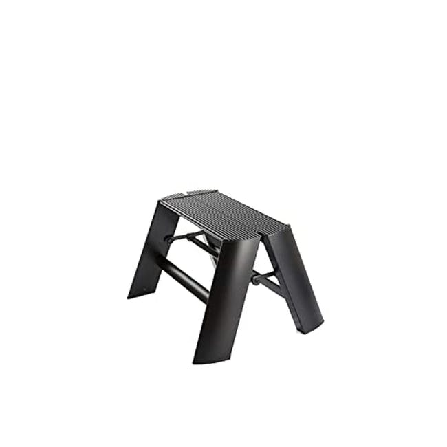 Hasegawa Lucano Aluminium 1 Step Stool - Black - 0