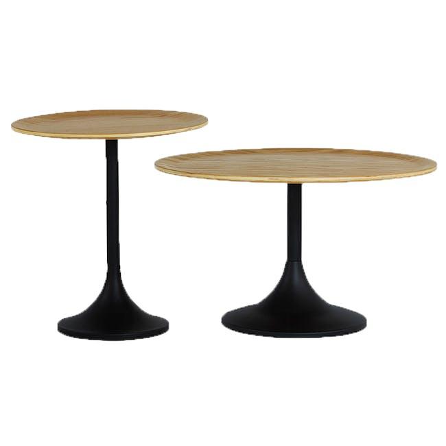 Pablo Round Side Table - Oak - 1
