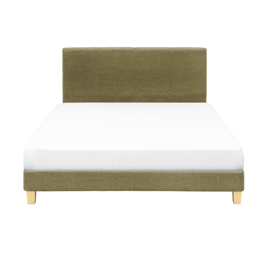 Chen Dynasty - ESSENTIALS King Headboard Divan Bed - Khaki (Fabric)