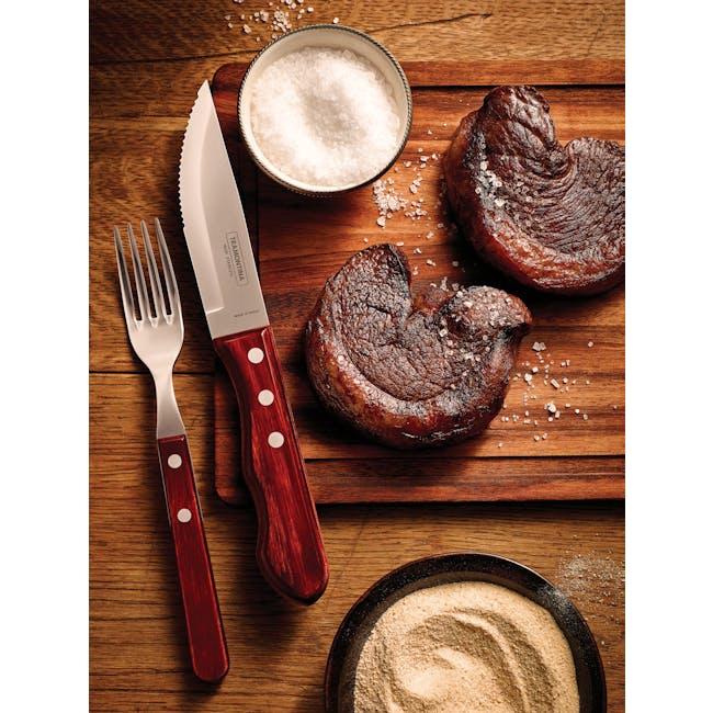 Tramontina 4pc Steak Cutlery Set - Red - 2