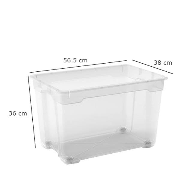 R-Box XL with Wheels - 60L with Lid - 7
