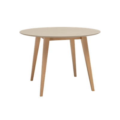 Ralph Round Dining Table with 4 Miranda Dining Chairs - Taupe Grey - Image 2