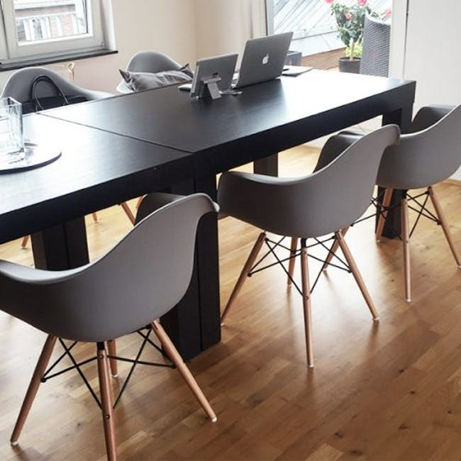 DAW Chair Replica - Natural, Grey - 1
