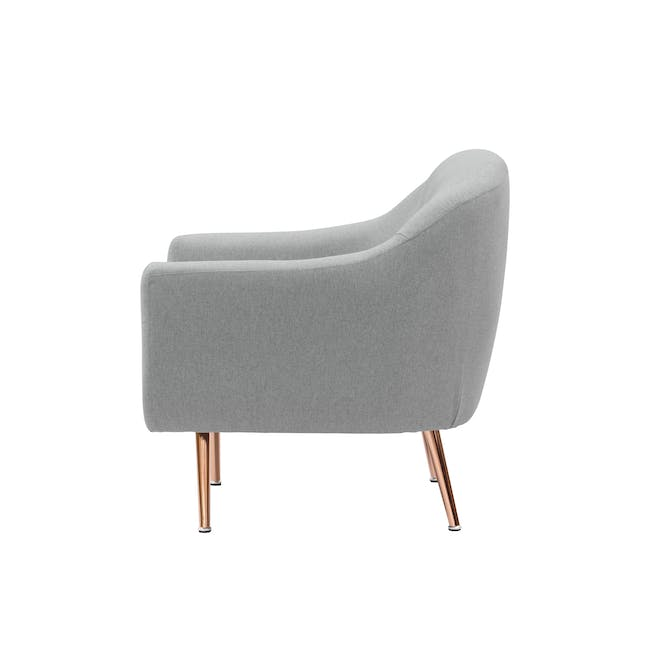(As-is) Arden Armchair- Rose Gold, Slate -1 - 7