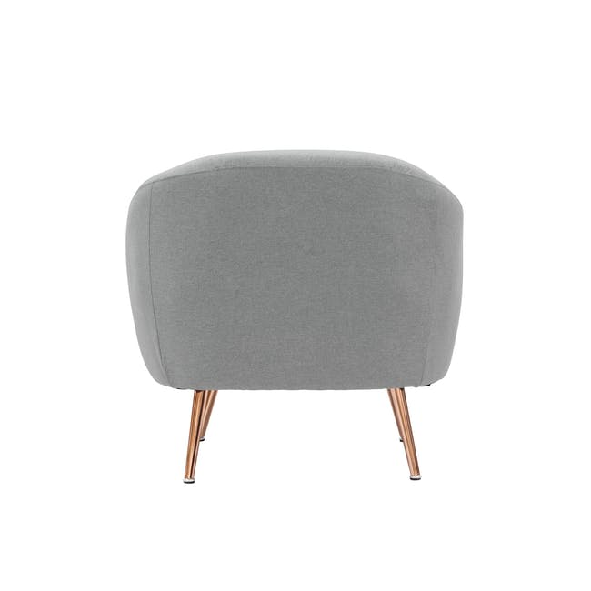 (As-is) Arden Armchair- Rose Gold, Slate -1 - 8