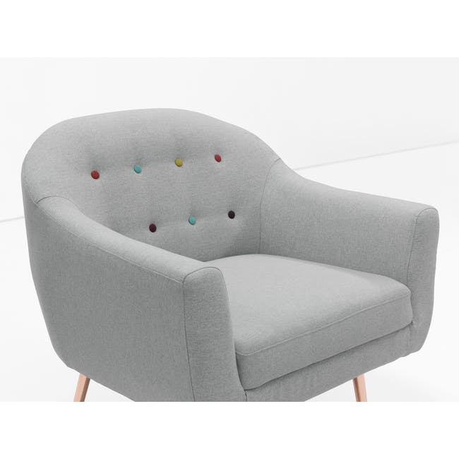 (As-is) Arden Armchair- Rose Gold, Slate -1 - 10
