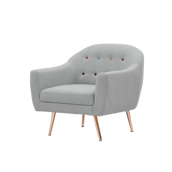 (As-is) Arden Armchair- Rose Gold, Slate -1 - 6
