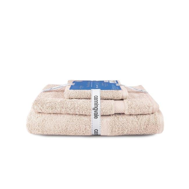 Canningvale Royal Splendour 3pc Towel Set - Angora Wheat - 0