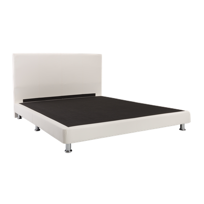 Evie Headboard Bed - White (Faux Leather) - 4 Sizes - Image 2