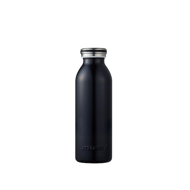 MOSH! Double-walled Stainless Steel Bottle 450ml -  Black - 0