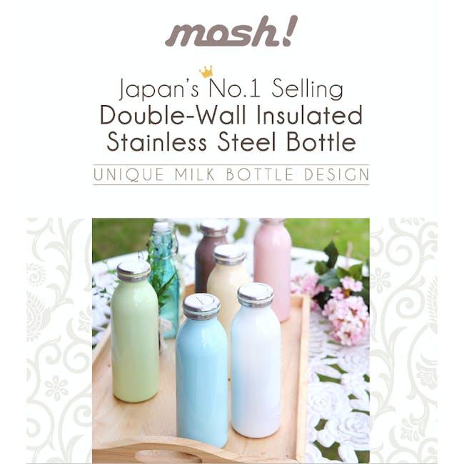 MOSH! Double-walled Stainless Steel Bottle 450ml -  Black - 3