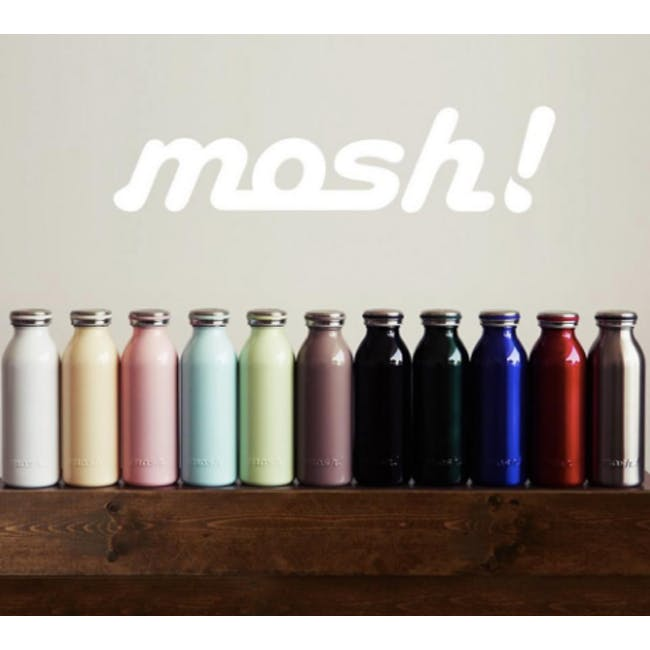 MOSH! Double-walled Stainless Steel Bottle 450ml -  Black - 1