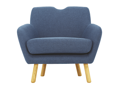 Joanna 1 Seater Sofa - Midnight Blue