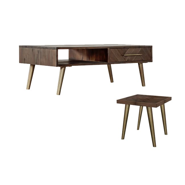 Cadencia Twin Drawer Coffee Table with Cadencia Side Table - 0