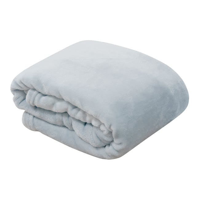 Marlow Velvet Plush Blanket - Grey - 0