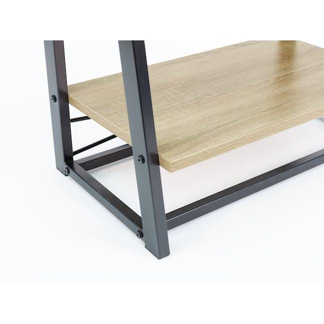 Luca Medium Shelf- Black, Oak - 3