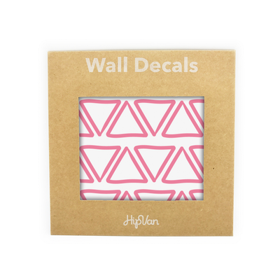 Doodle Triangle Wall Decal (Pack of 48) - Pink - Image 1