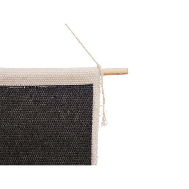 Nordic Tapestry with Tassle - Monochrome - 1
