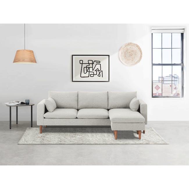 Alicia L-Shaped Sofa - Ivory - 2