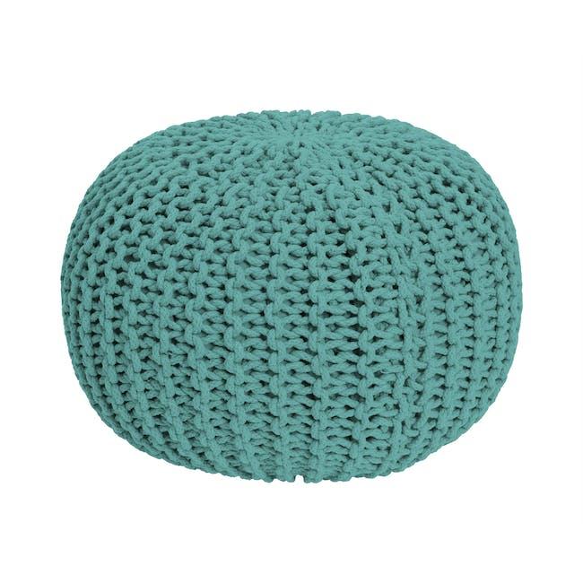 Moana Knitted Pouf - Tiffany Blue - 0