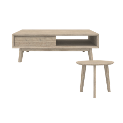 Leland Coffee Table with Leland Low Side Table - Image 1