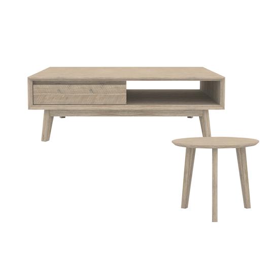 HipVan Bundles - Leland Coffee Table with Leland Low Side Table