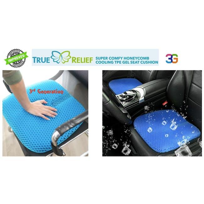 True Relief TPE Seat Cushion - Coal Black - 8