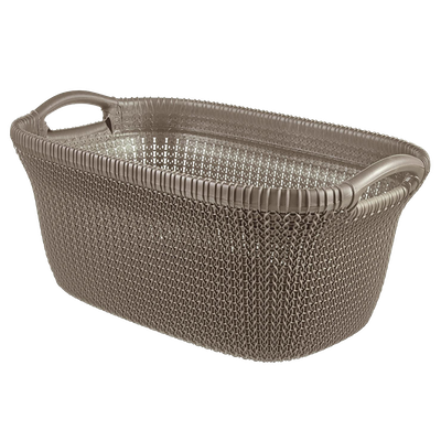 Knit Laundry Basket 40L - Harvest Brown - Image 1